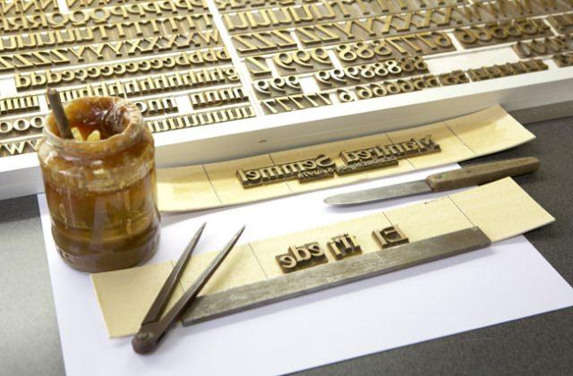 Handsatz verlangt Erfahrung mit Typografie