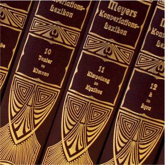 Lexikabände mit neuen Einbanddecken