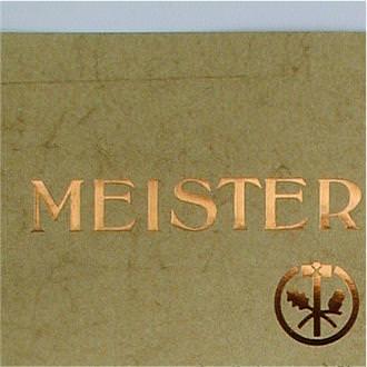 Meisterschmuckbrief A2